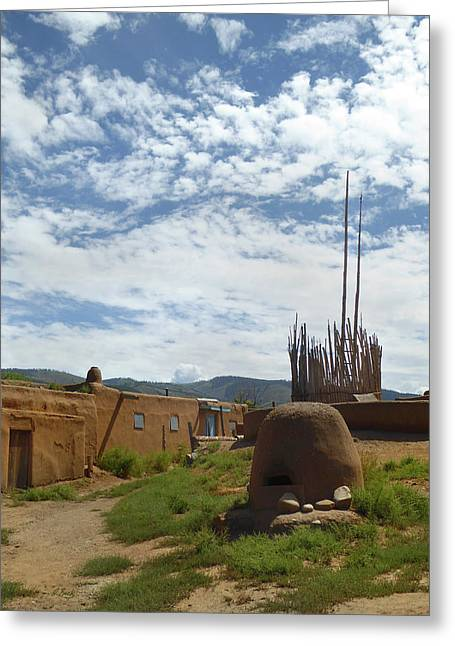 Remembering Taos Greeting Card by Gordon Beck