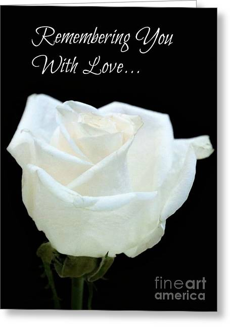 Remembrance Rose Greeting Card