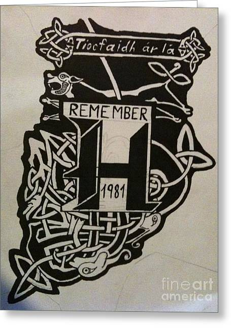 Remenber H Blocks 1981 Greeting Card by Brett Genda