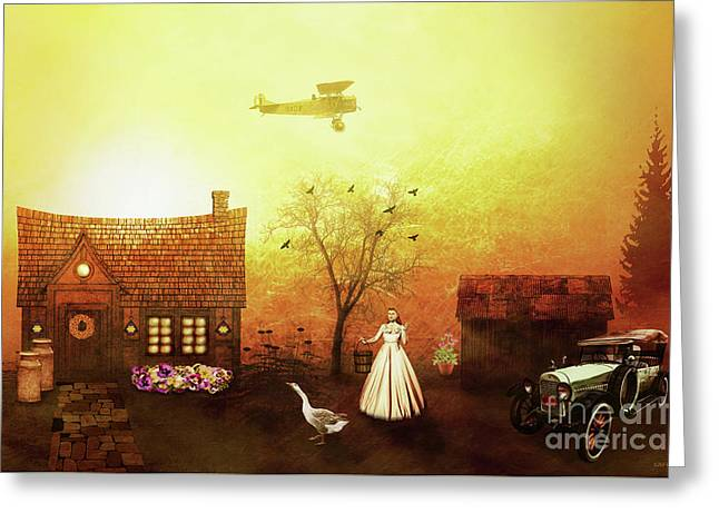 Reminiscent Of The Past Greeting Card by KaFra Art