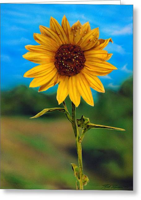 Reminiscing Glorious Summer Days Greeting Card by Rick Primeau