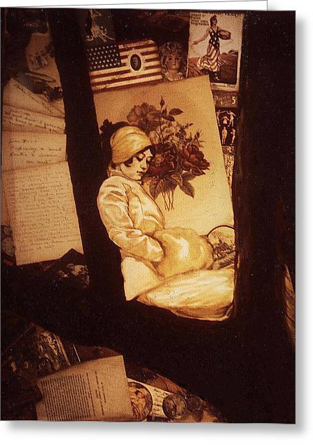 Remnants Of 1919 Greeting Card by Jill Baker