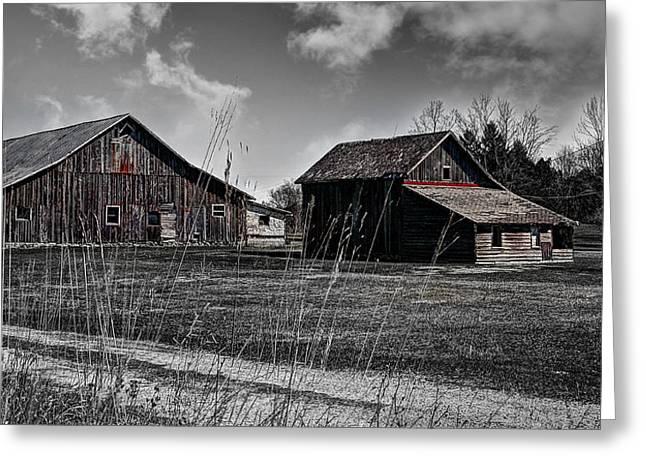 Remnants Of An Old Barn Greeting Card by Deborah Klubertanz