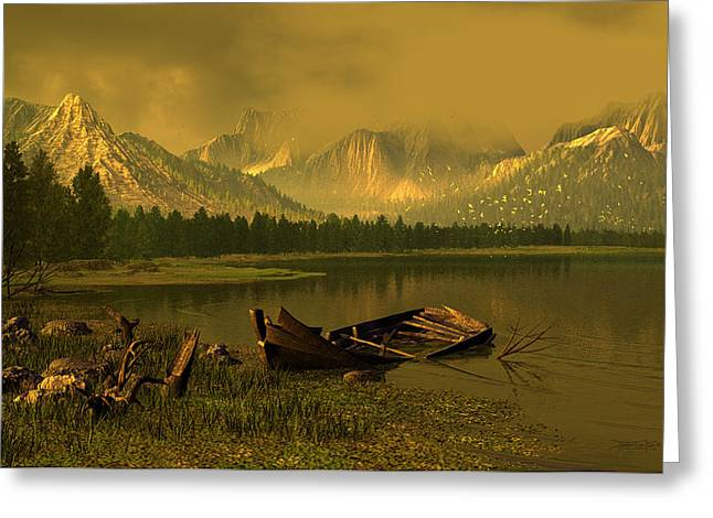 Remnants Of Time Greeting Card by Dieter Carlton