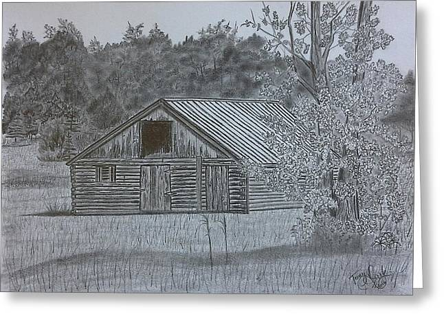 Remote Cabin Greeting Card