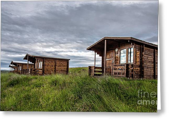 Greeting Card featuring the photograph Remote Cabins Myvatn Iceland by Edward Fielding