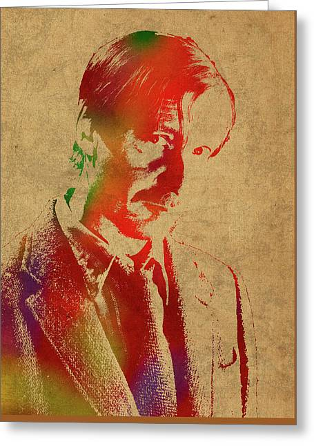 Remus Lupin From Harry Potter Watercolor Portrait Greeting Card