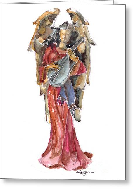 Renaissance Angel Greeting Card by Claudia Hafner
