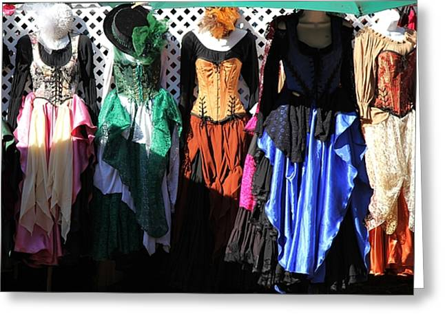 Renaissance Dresses Greeting Card