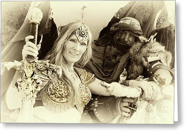 Greeting Card featuring the photograph Renaissance Festival Barbarians by Bob Christopher