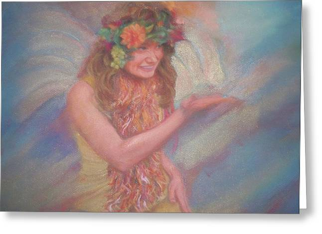 Dust Pastels Greeting Cards - Renaissance Festival Fairy Greeting Card by Diane Caudle