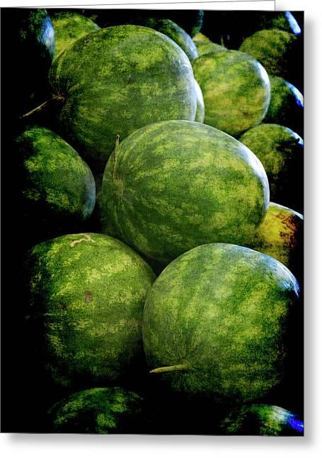 Renaissance Green Watermelon Greeting Card