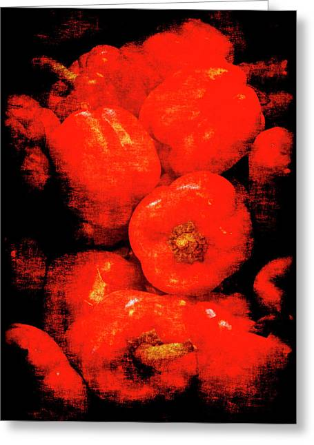Renaissance Red Peppers Greeting Card