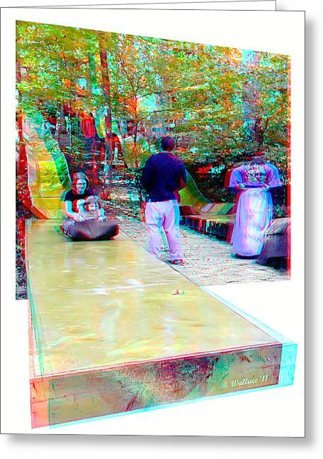 Greeting Card featuring the photograph Renaissance Slide - Red-cyan 3d Glasses Required by Brian Wallace