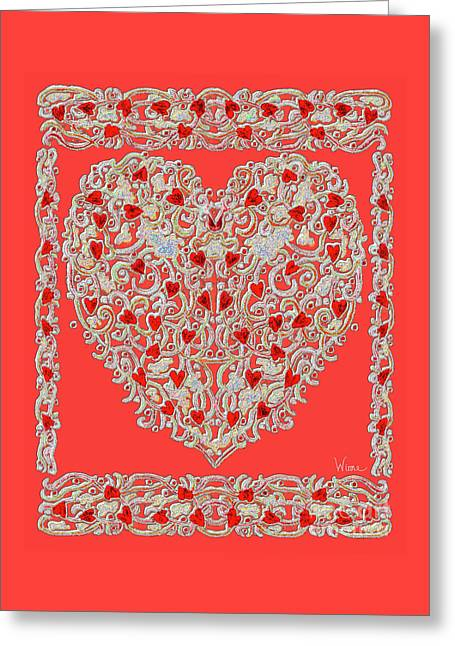 Renaissance Style Heart Greeting Card