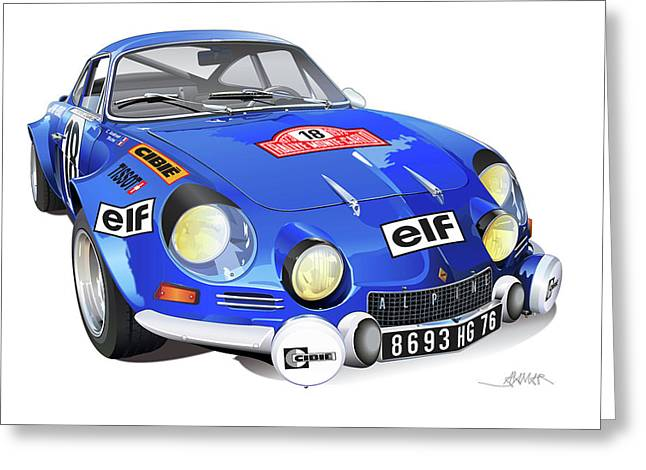 Renault Alpine A110 Greeting Card by Alain Jamar