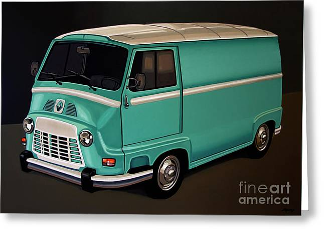 Renault Estafette 1959 Painting Greeting Card by Paul Meijering