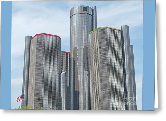 Ren Cen Towers Greeting Card
