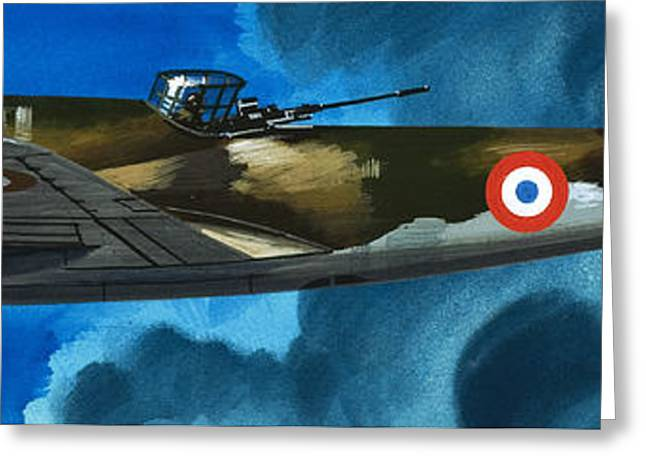 French Aircraft Of World War II  French Bomber Greeting Card by Wilf Hardy