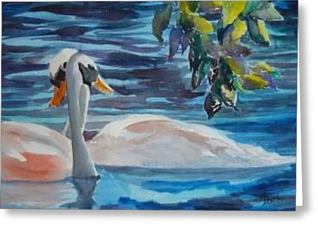 Greeting Card featuring the painting Rendezvous by AnnE Dentler