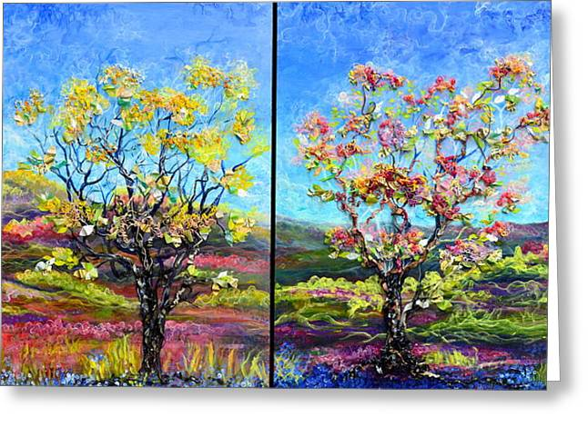 Renew And Refresh Diptych Orientation 2 Greeting Card