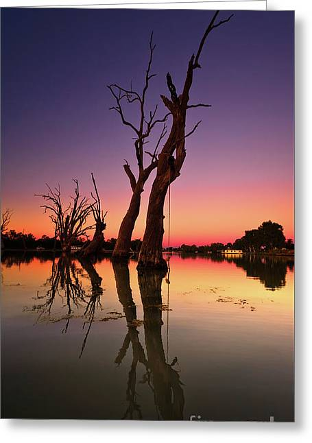 Renmark South Australia Sunset Greeting Card by Bill Robinson