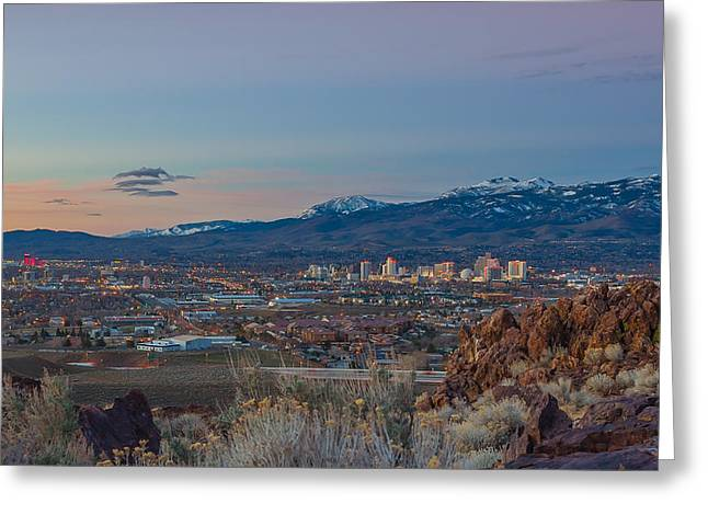 Reno Spring Sunrise Greeting Card by Scott McGuire