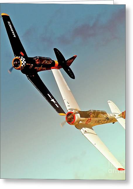 Reno T-6s  Honest Entry And Grace 8 Race On Greeting Card