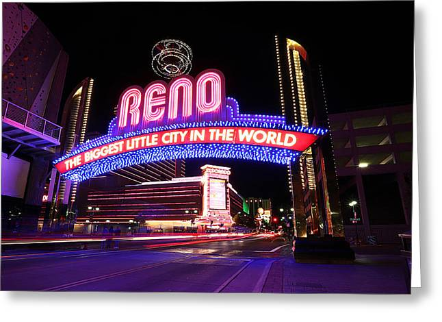 Greeting Card featuring the photograph Reno - The Biggest Little City In The World by Shawn Everhart
