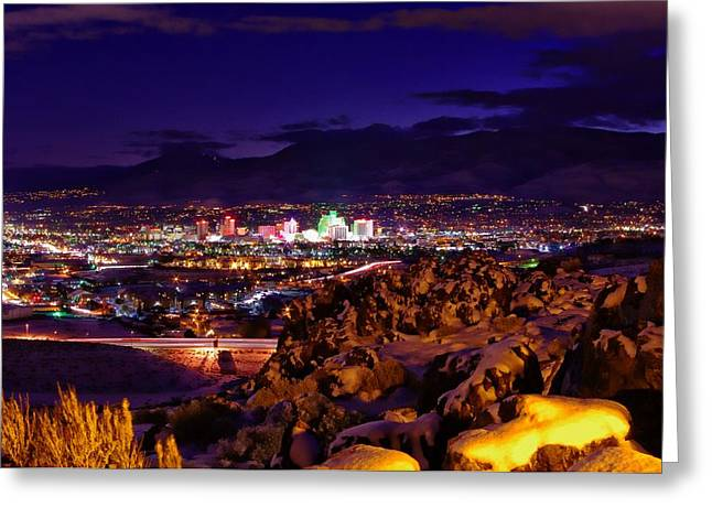 Reno Winter  Greeting Card by Scott McGuire