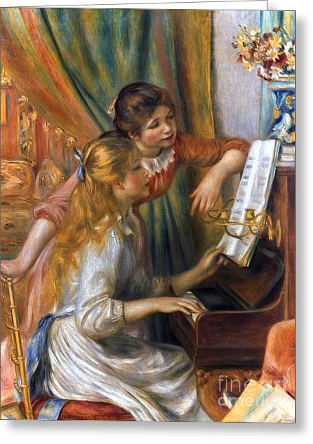 Renoir: Girls/piano, 1892 Greeting Card by Granger