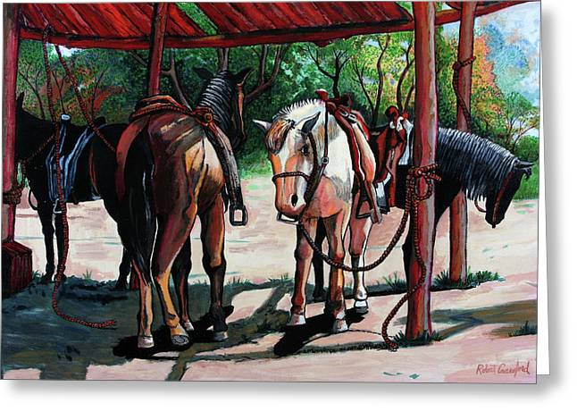 Rent A Horse Greeting Card by Bob Crawford