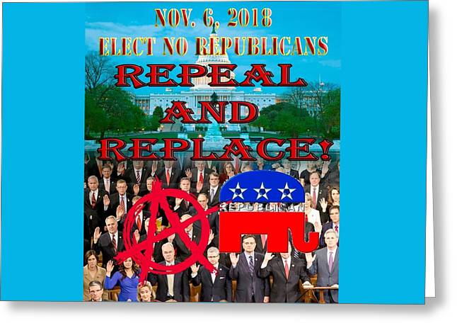 Repeal Congress Greeting Card
