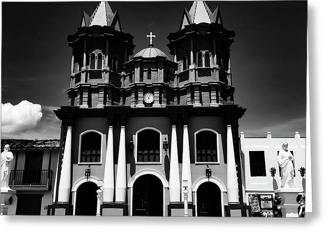 Replica Church In El Penol Greeting Card