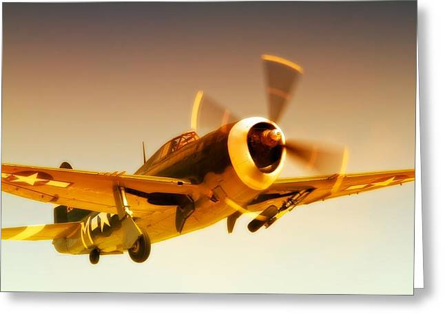 Planes Of Fame Greeting Cards - Republic P-47 Thunderbolt 2011 Chino Air Show Greeting Card by Gus McCrea