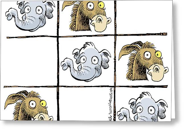 Republicans Win Tic Tac Toe Greeting Card