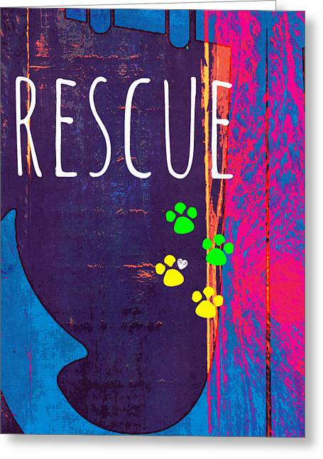 Rescue Anchor Greeting Card by Brandi Fitzgerald