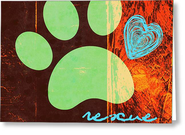 Rescue Paw 1 Greeting Card by Brandi Fitzgerald