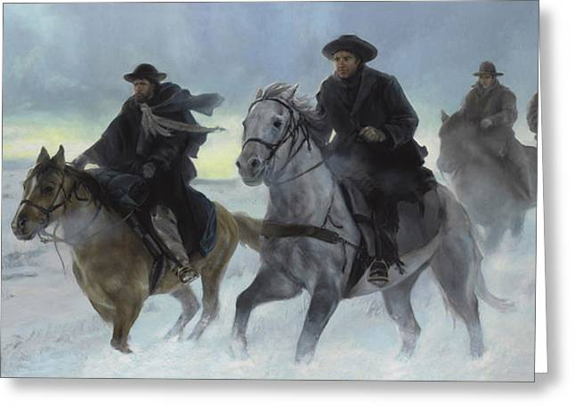 Rescue Riders Greeting Card by Emily Pugmire