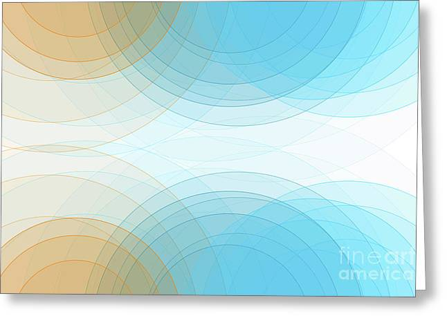 Research Semi Circle Background Horizontal Greeting Card by Frank Ramspott