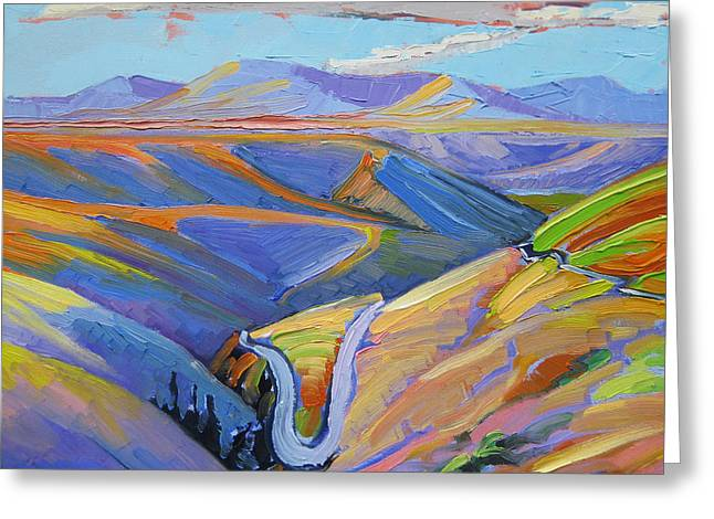 Reservation Roads Greeting Card by Gregg Caudell