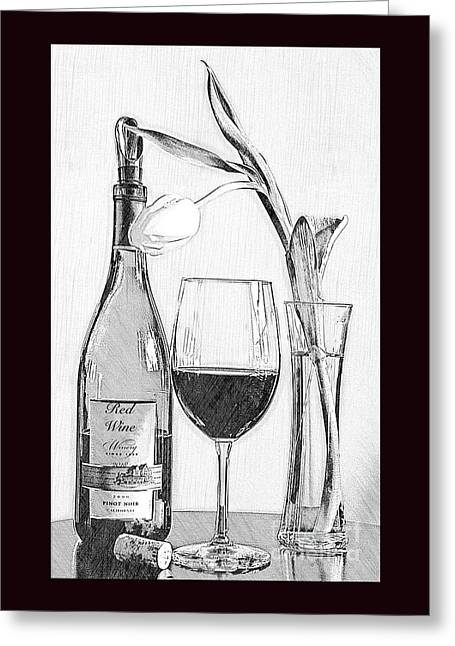 Reserved Table For One In Black And White Greeting Card