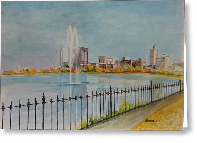 Reservoir In Central Park Greeting Card