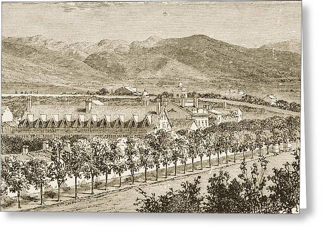 Residence Of Brigham Young Salt Lake Greeting Card by Vintage Design Pics