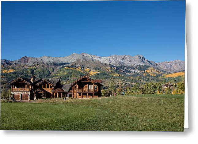 Greeting Card featuring the photograph Residences In Mountain Village -- A Planned Community Adjacent To Telluride by Carol M Highsmith