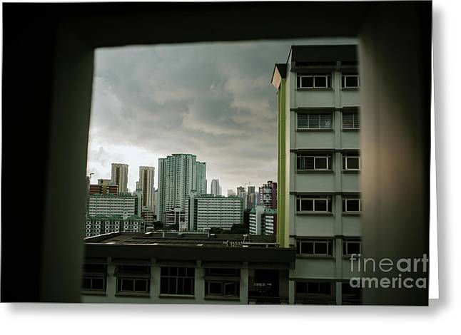 Residential District In Singapore Greeting Card