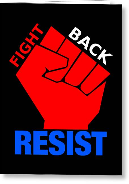 Resist 2 Greeting Card