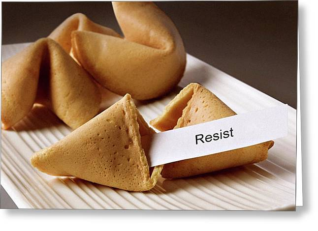 Resistance Fortune Cookie Greeting Card by Susan Maxwell Schmidt