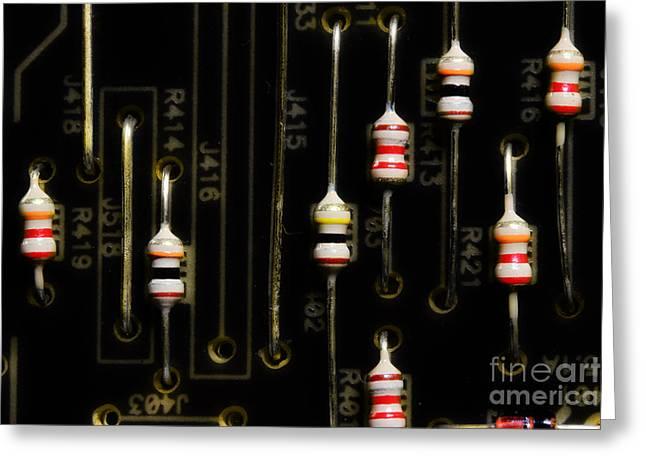 Resistors Greeting Card by Michael Eingle