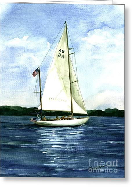 Greeting Card featuring the painting Resolute by Nancy Patterson
